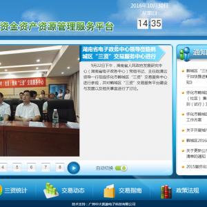 """湖南省电子政务中心领导莅临鹤城区""""三资""""交易服务中心进行参观"""