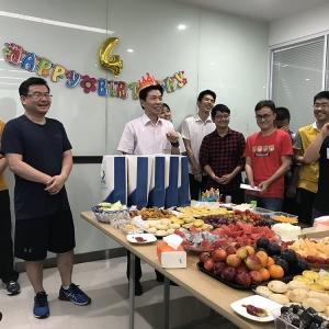 广州中大金赞 官网电子科技有限公司员工生日会&迎新会